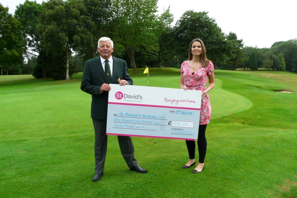 Destow golfer raises funds for charity