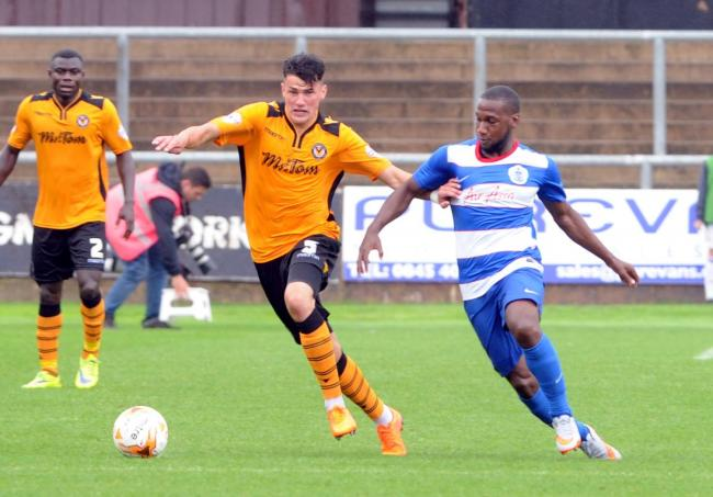 STAR: Regan Poole in action for Newport County against QPR last summer