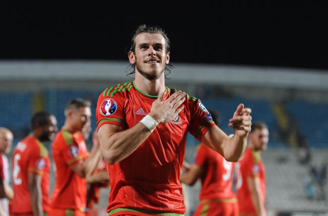 Wales Gareth Bale celebrates his side's win after the UEFA European Championship Qualifying match at the GSP Stadium, Cyprus. Picture date: Thursday September 3, 2015. See PA story SOCCER Cyprus. Photo credit should read: Andrew Matthews/PA Wire.