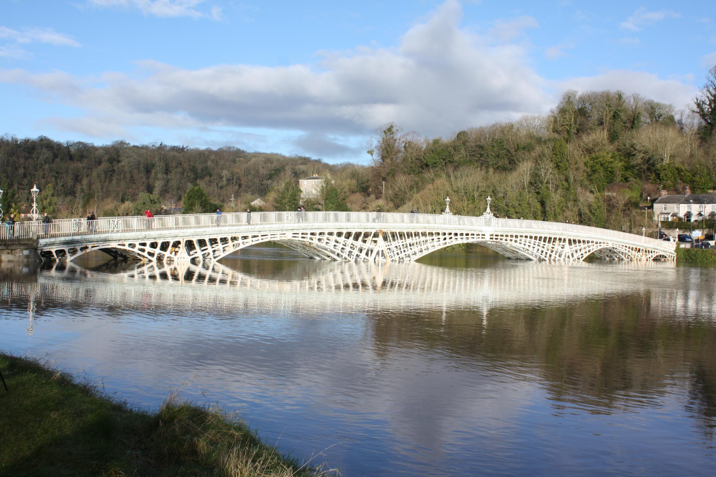 LANDMARK: Reader Michael Hine sent in this shot of the majestic Chepstow Bridge taken at a very high tide.If you would like to submit a photograph please email to yourpictures@southwalesargus.co.uk (39905650)