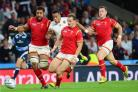 FOOT RACe: Wales number eight Taulupe Faletau kept up with speedsters Anthony Watson and Hallam Amos in a sprint to the ball against England, a sign of his incredible work rate