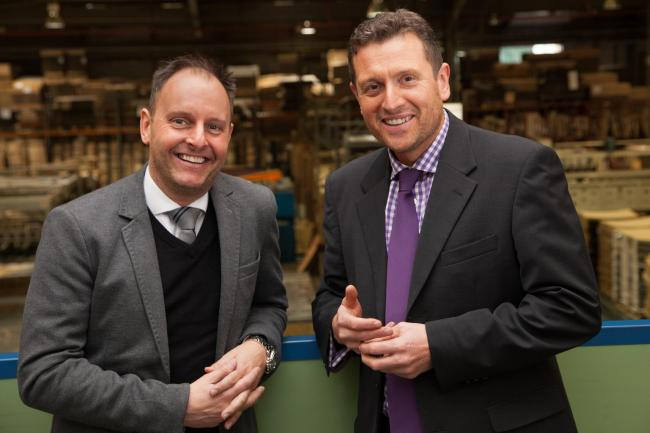 Diamondpak MD Russell Davies, pictured right with John Brasier of ID Machinery, has invested £500,000 to increase output at the company's Pontypool factory