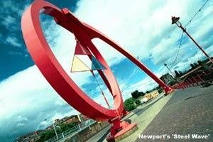South Wales Argus: Newport's Steel Wave