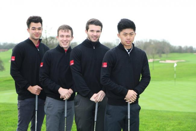 DRIVING FORWARD: USW students Mitch Reid, Theo Baker, Oliver Mottram and Delon Hau