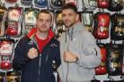 WINNERS: Sean McGoldrick and Joe Cordina at the opening of the new Ringmaster UK shop in Newport. Picture: Bocsio Magazine