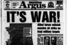 IT'S WAR: The Argus front page on the morning the Gulf War broke out (51738727)