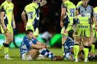 DEJECTED: Replacement Dragons hooker Elliot Dee cuts a frustrated figure at Sale