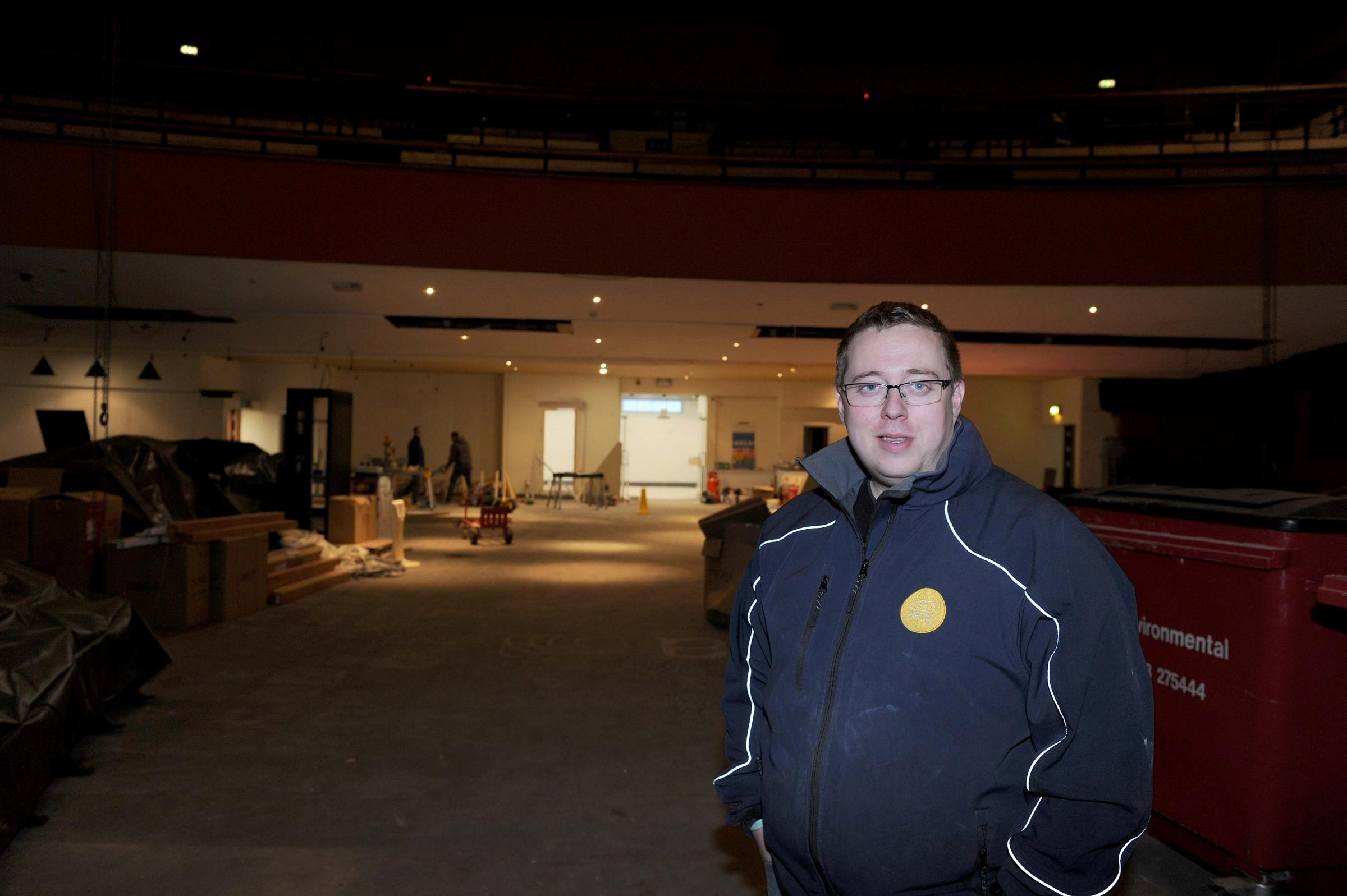 Andy Byers who is doing up the old cinema in Clarence Place, Newport  and turning it into a music venue. (53527075)