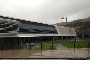 PICTURE UPDATE: Ebbw Vale Sports Centre evacuated following roof collapse