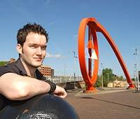 BIG CHANCE: Newport actor Gareth David-Lloyd has a leading role in the new BBC series Torchwood, a spin-off of the popular Doctor Who series