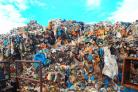 Waste piled up at the Pontypool facility operated by Christopher Bayliss.