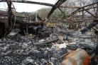 Coed Eva Primary was ravaged by fire