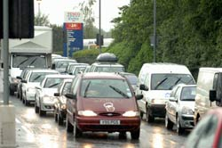 Delays on Cardiff Road in Newport