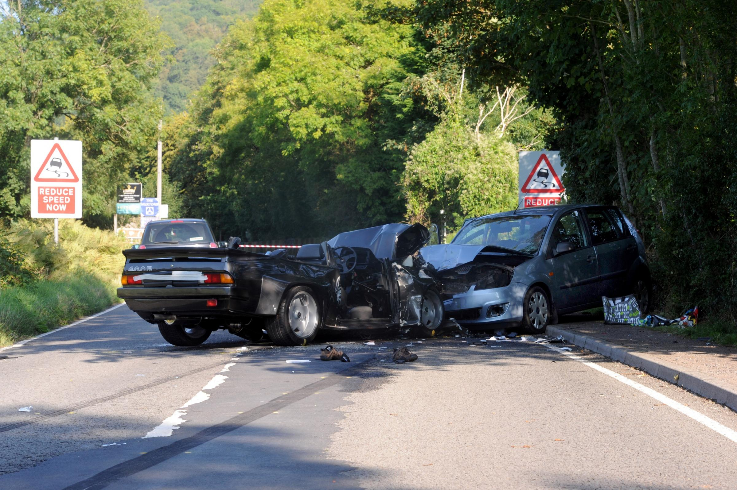 SCENE: Darren Williams has pleaded guilty to causing death by careless driving on the A466 near Tintern