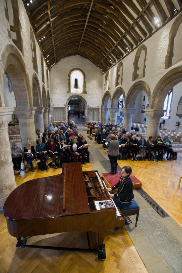 South Wales Argus: Rehearsals for Come and Sing Messiah at Newport Cathedral