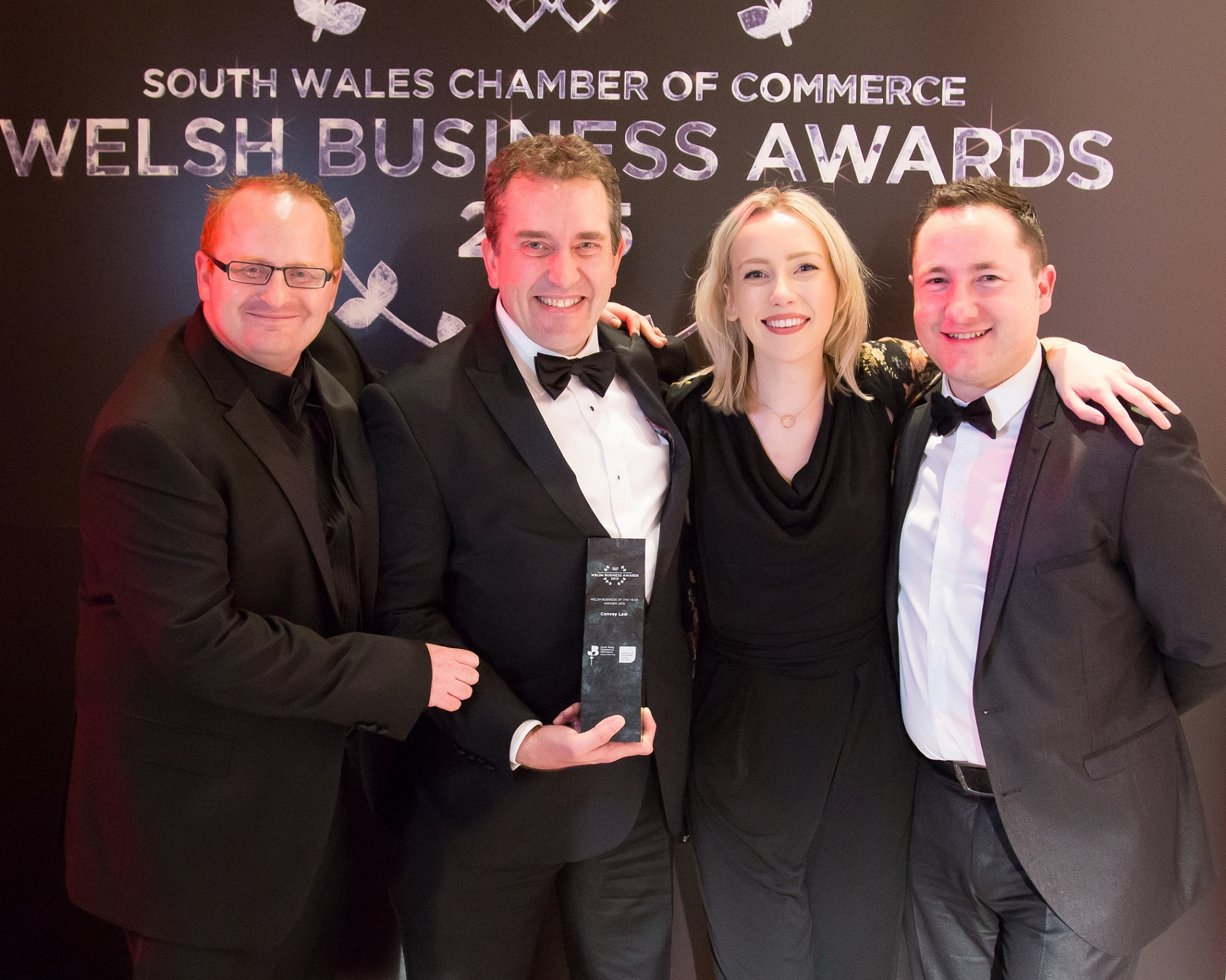 The Convey Law team with their Winner of Winners Award at the Welsh Business Awards (57708995)