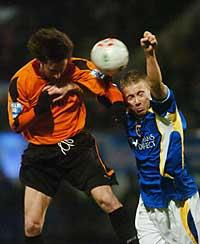 NEW ARRIVAL: Matt Smith challenges Jason Bowen while playing for Cardiff City in their FAW Premier Cup defeat to County
