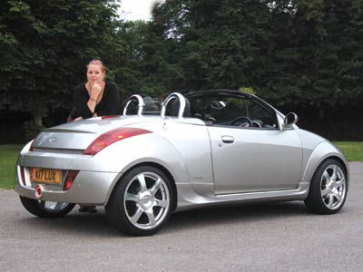 Rebecca Holley With Her Modified Streetka