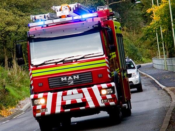 Large fire at barn with 40 tonnes of hay, tractor and bulldozer inside