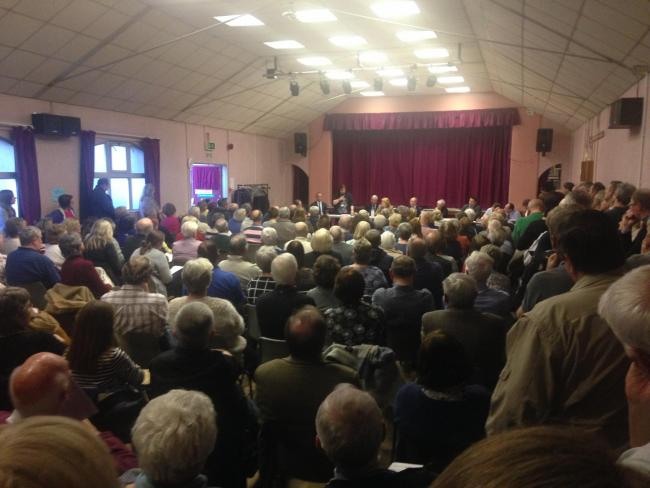 More than 250 people attended a public meeting on the University of South Wales' controversial proposals for homes on its Caerleon campus site.