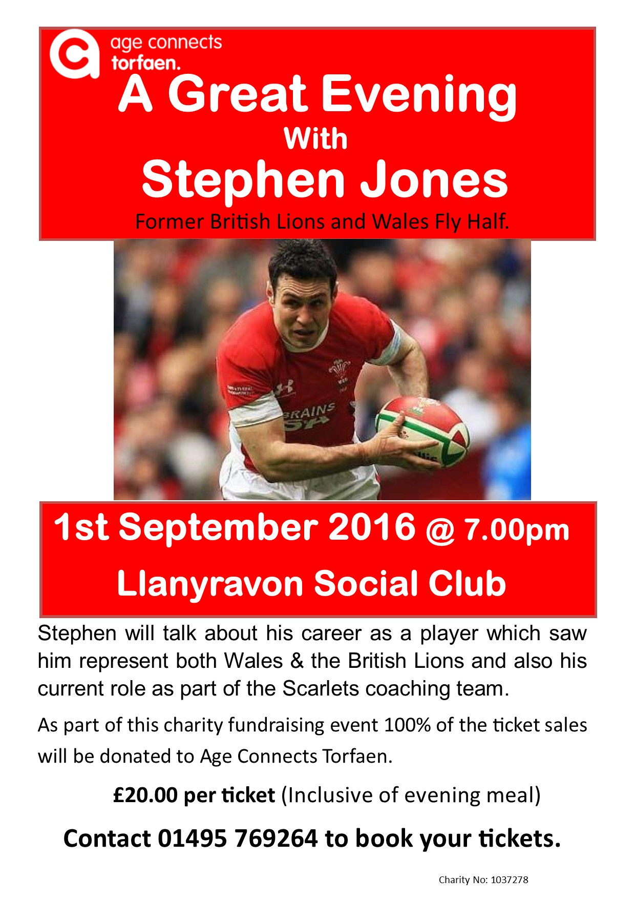 An Evening with former British Lions & Wales star Stephen Jones