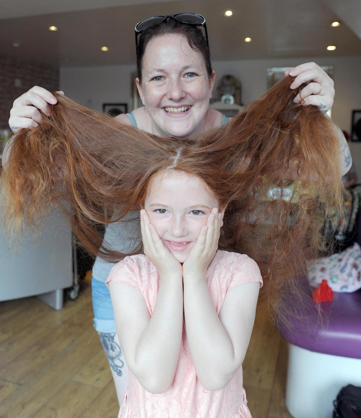 Six Year Old Newport Schoolgirl Undergoes First Haircut For Little