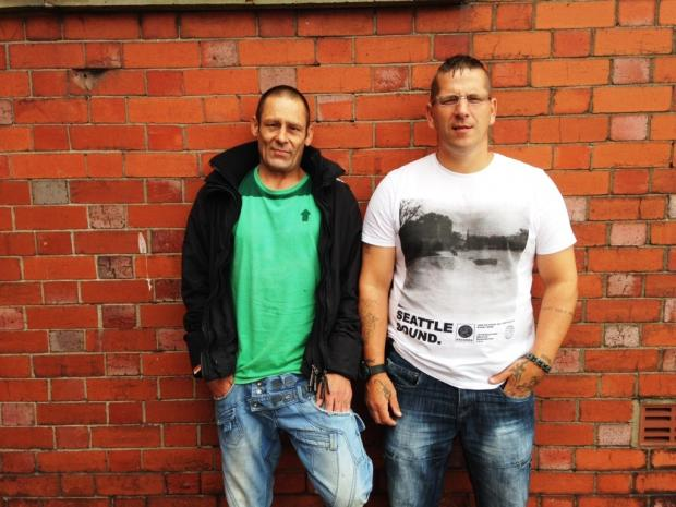 South Wales Argus: KICKING THE HABIT: From left, Ian Littlewood and Andrew Lee Pursey