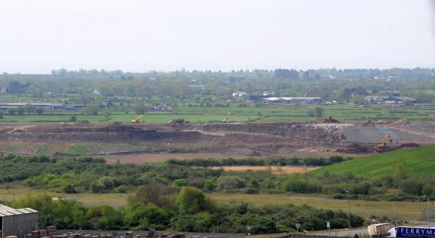 South Wales Argus: Landfill from the Transporter bridge in Newport