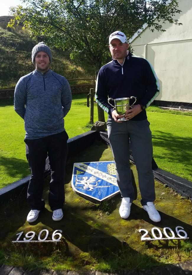 CLUB CLASS: West Monmouthshire club champion Scott Bradley, right, with runner-up Ben Arnold