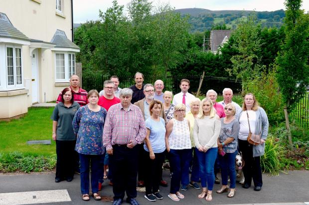 South Wales Argus: Residents of Parc Panteg in Sebastopol who are angry of proposed plans to change a nearby building into a living facility for ex-offenders with drug and alcohol issue..