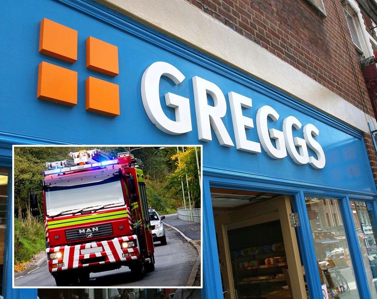 Firefighters Called After Reports That Newbridge Greggs Shop Was On