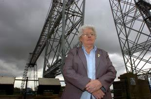 STEPPING DOWN: Anne Gatehouse at Newport's Transporter Bridge