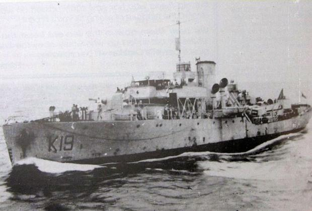 South Wales Argus: ESCORT: HMS Nigella, the Flower-class corvette adopted by Abertillery