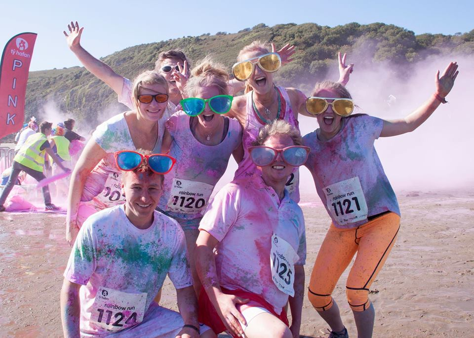 Rainbow Run - Swansea Bay Beach