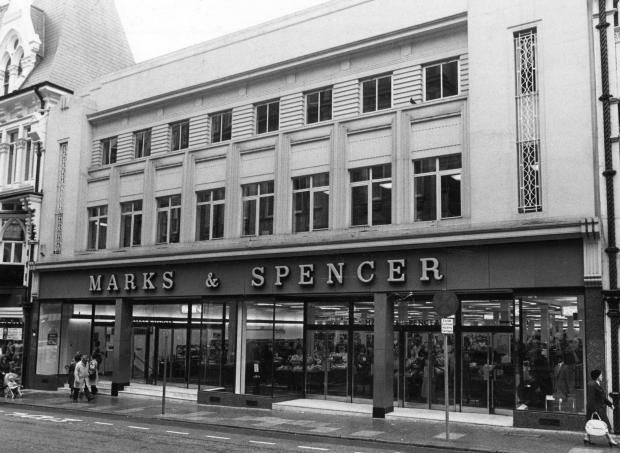 South Wales Argus: HIGH STREET FAVOURITE: A picture taken in 1980 of Marks and Spencer on Commercial Street in Newport