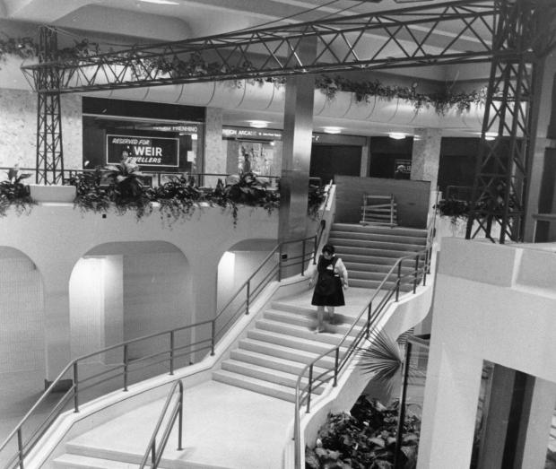 South Wales Argus: SHOPPING CENTRE: The Kingsway Centre, complete with model Transporter Bridge