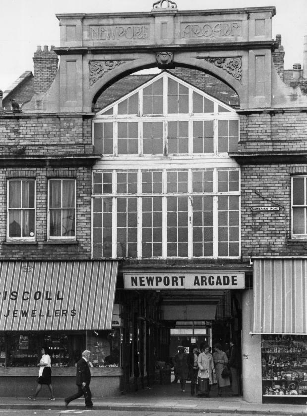 South Wales Argus: FADED: Shot from 1980 of Newport Arcade