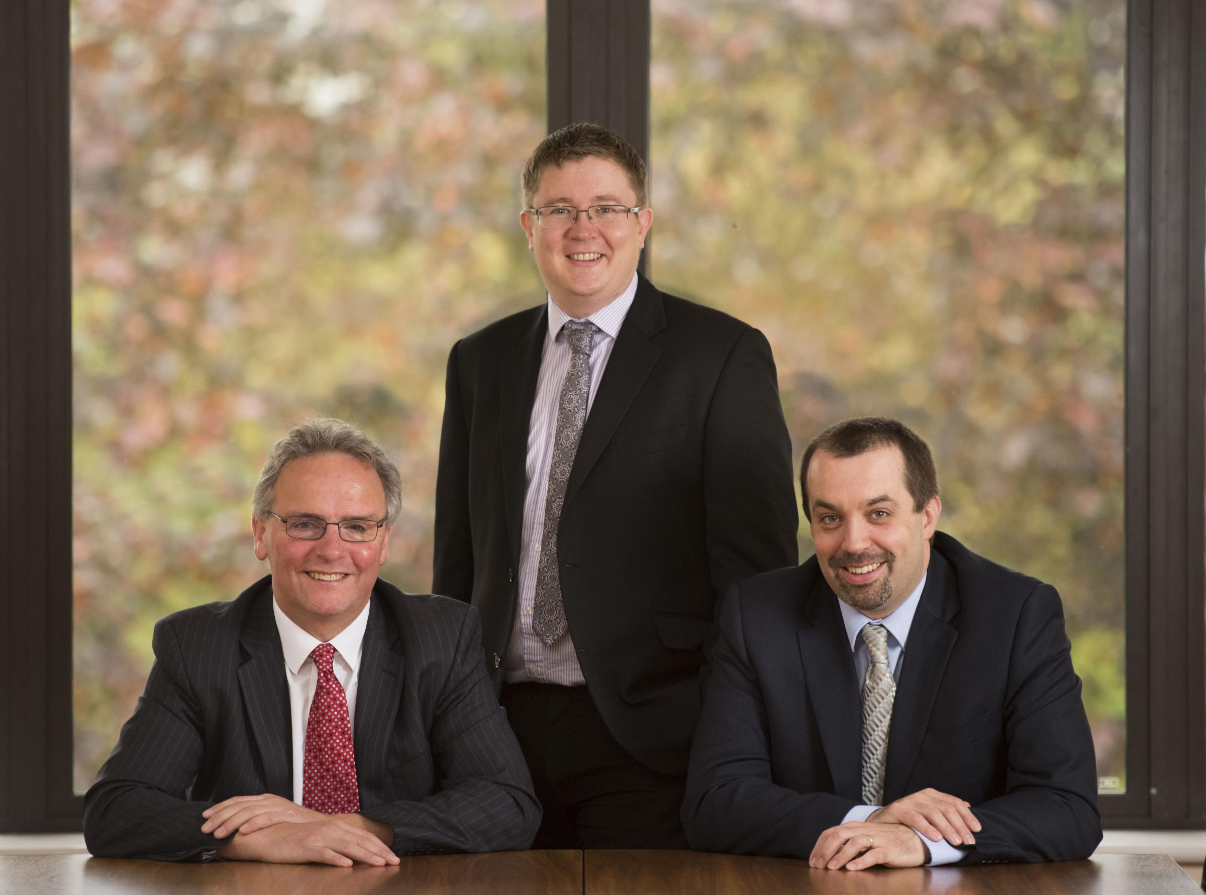 Partners: (L-R) Nick Park, Barrie Kenyon, Ed Gooderham