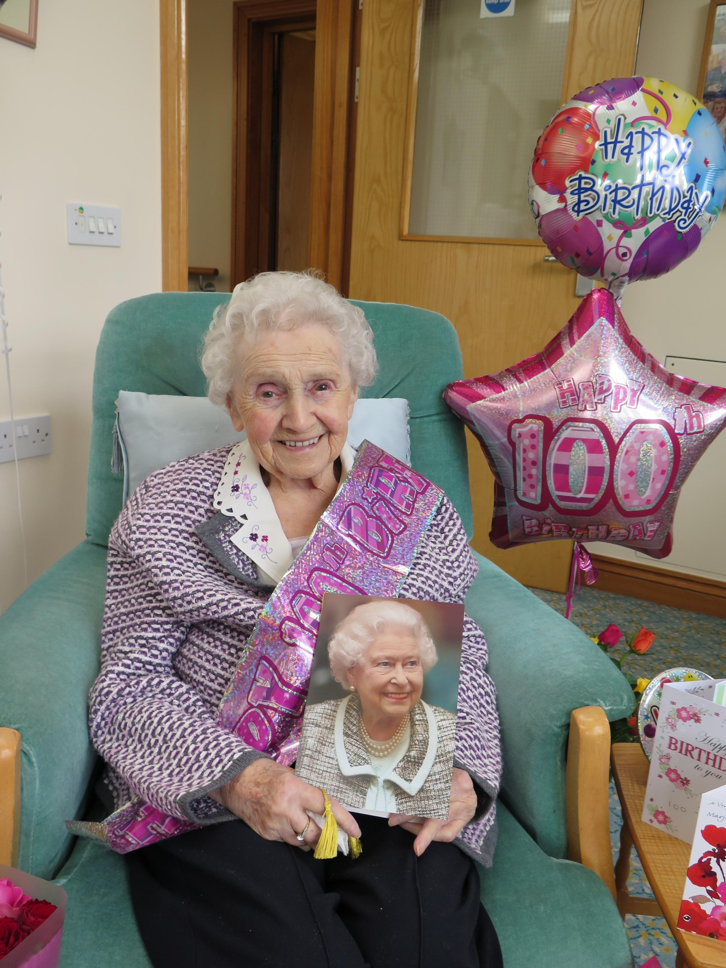 Marjorie Ovens Celebrating Her 100th Birthday With Hundreds Of Good Whishes From The PublicPic Chris Tinsley