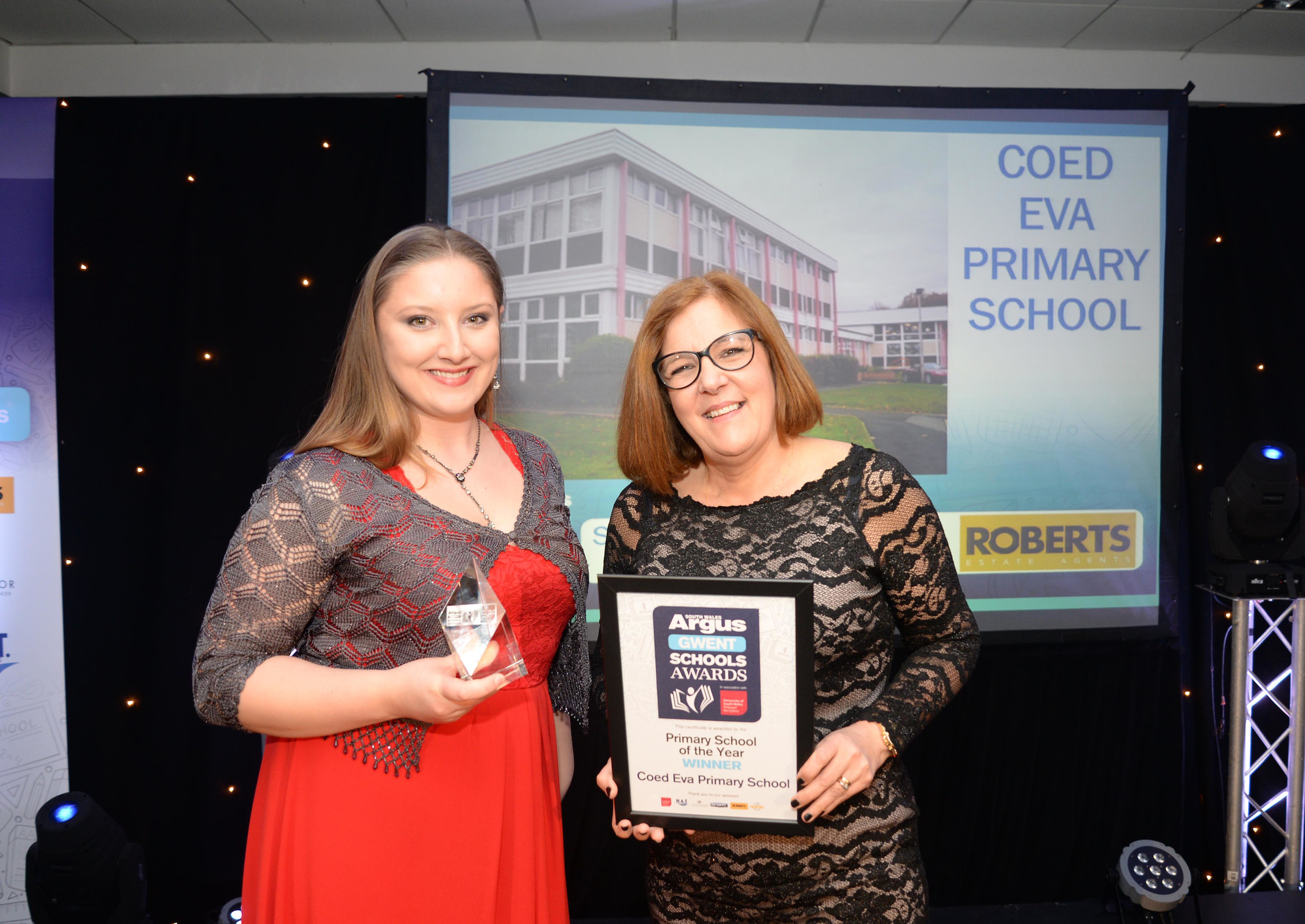 ELATED: The winner of the the Primary School of the Year was Coed Eva Primary School