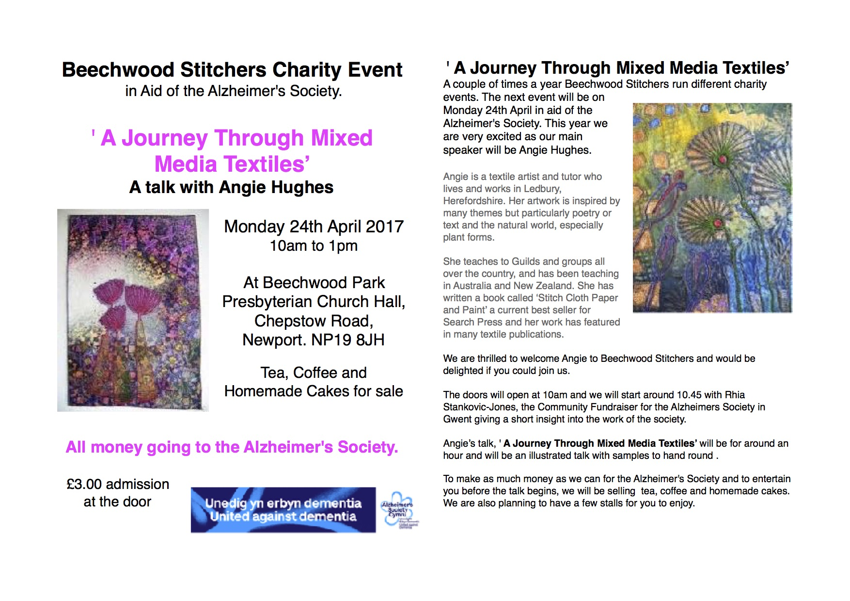 A Journey Through Mixed Media Textiles - Talk with Angie Hughes