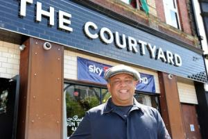 Iftekhar Haris owner of the Courtyard in Newport.