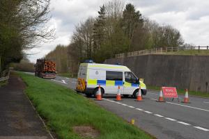 The crash which happened on the A465 Hereford Road near Abergavenny. Picture: Google