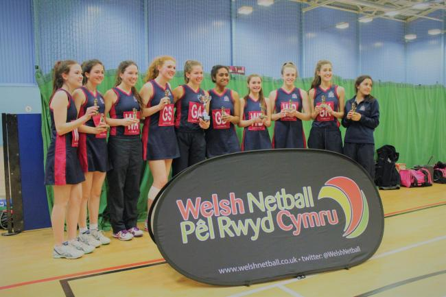Haberdashers' Monmouth School for Girls netball team who are champions of Wales