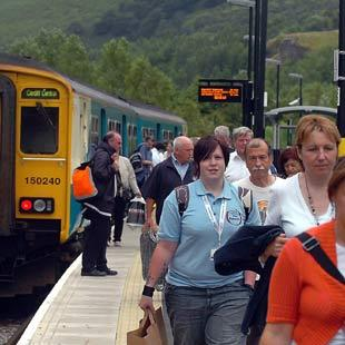POTENTIAL: The Ebbw Valley rail line could extend to Abertillery