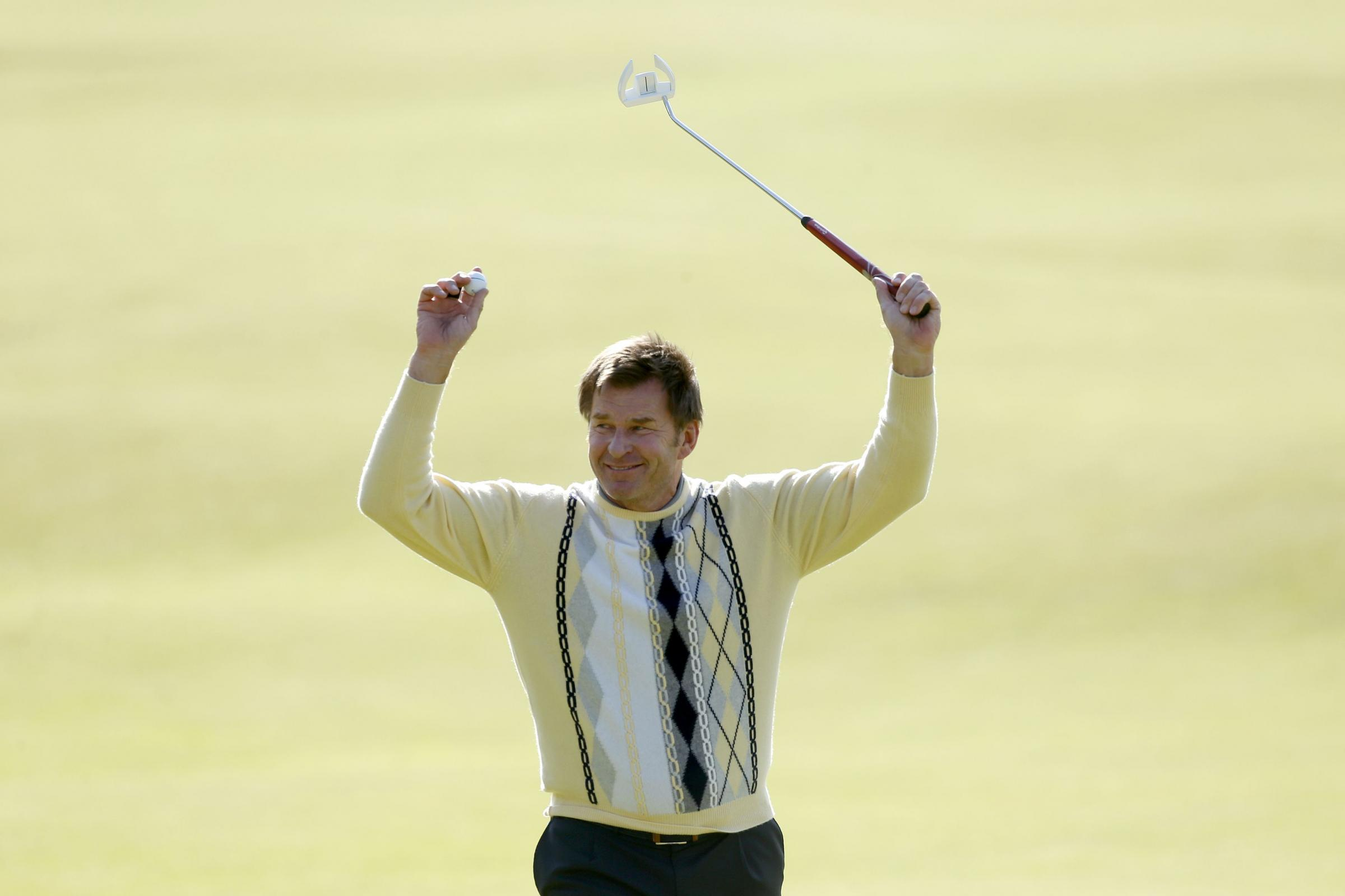 BIRTHDAY: Sir Nick Faldo turns 60 this month and will celebrate by playing the Senior Open Championship at Royal Porthcawl