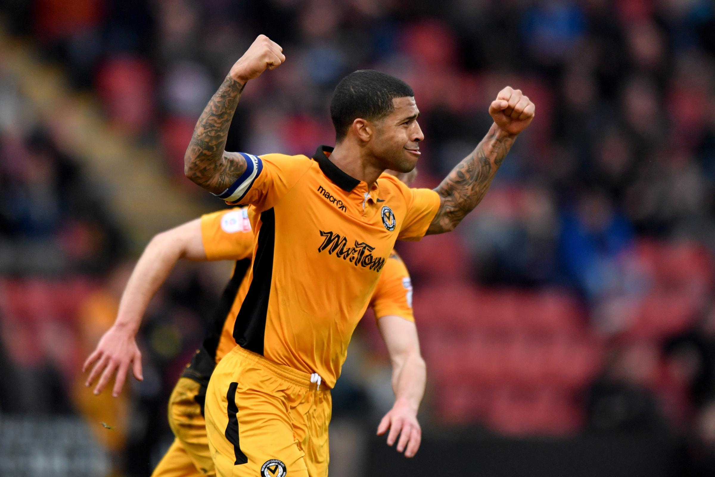 CAPTAIN: Joss Labadie's winner at Crewe Alexandra on March 11 started the Newport County revival under Michael Flynn