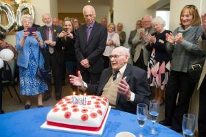 Ron Jones from Bassaleg celebrates his100th birthday.