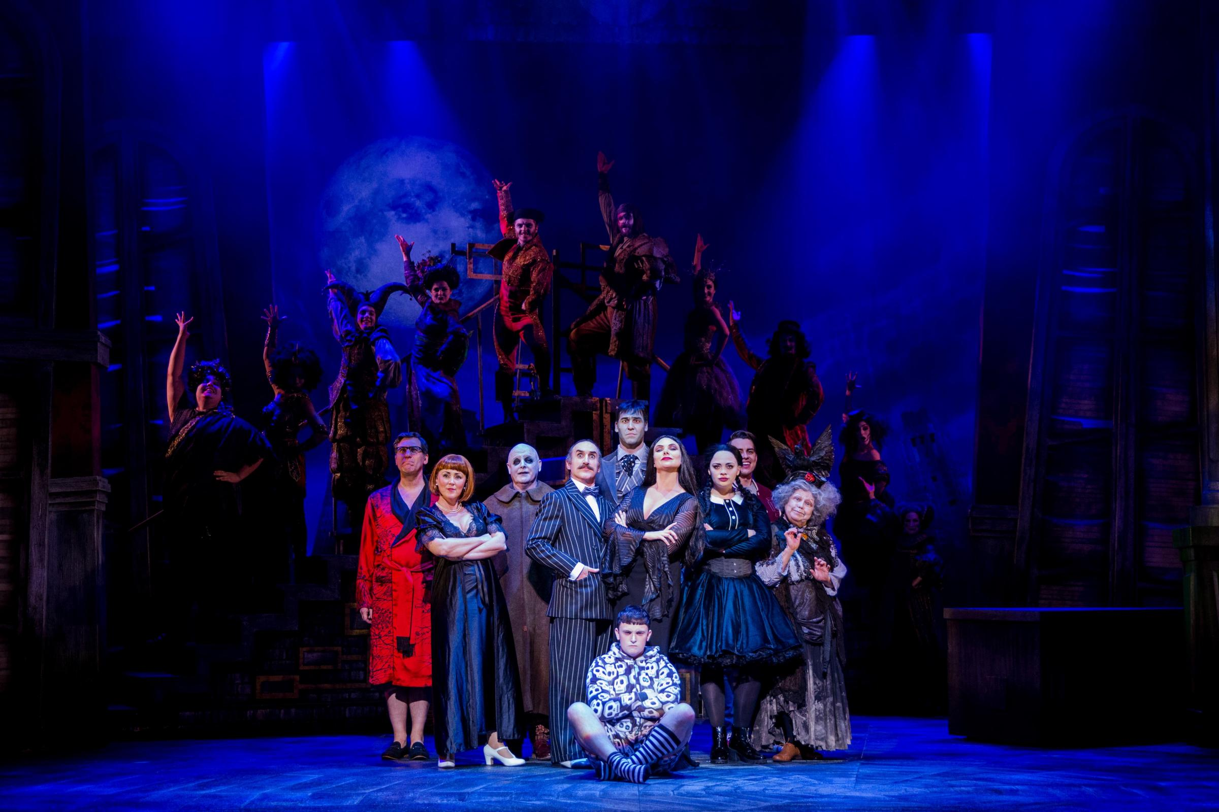 The cast of The Addams Family. Picture: Matt Martin