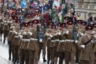 HONOUR: 104 Regiment Royal Artillery during their freedom parade in NewportPic: Chris Tinsley
